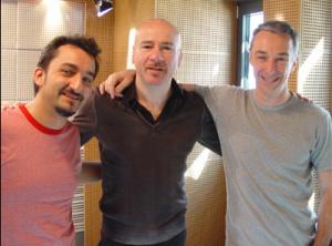 Mario a Radio Deejay con Linus e Savino